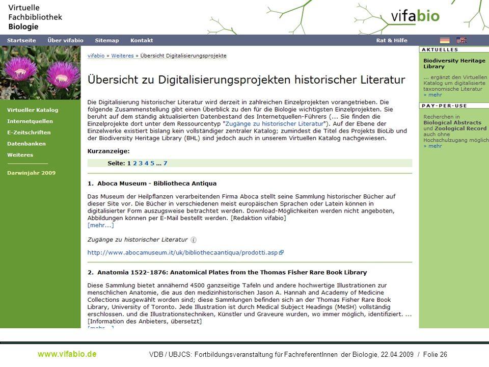 [ Bildschirmfoto: ] Digitalisierungsprojekte